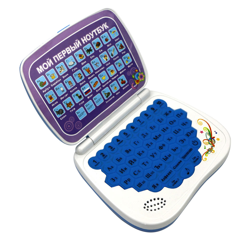 Children Mini Electric Learning Machine Russian Language Emotional Interaction Kids Laptop Toy Learning Educational Laptop Toys image
