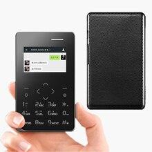 Aiek a7 schrittzähler bauen in 8g speicher bluetooth 3,0 musik mp3 FM vibration ultradünne kreditkarte handy mini handy P157