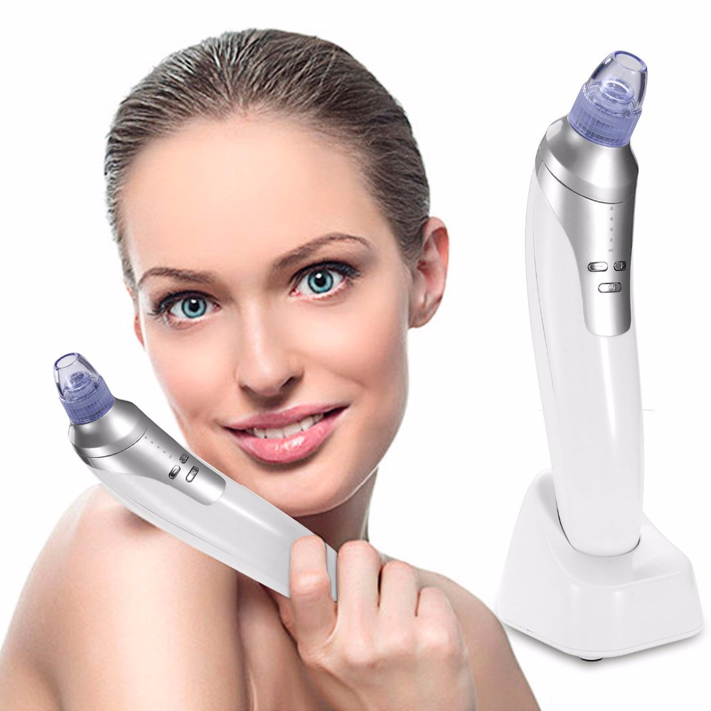 Blackhead Facial Pore Vacuum Cleaner Electronic Blackhead Removal Facial Cleaner Acne Remover Extraction Pore Comedone Extractor original package electric facial pore cleanser blackhead suction acne remover removal 2 in 1 facial steamer spray moisturizer