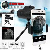 SGODDE 40X60 Zoom HD IR Night Vision Monocular Infrared Binoculars Telescope Phone Holder Tripod for Hunting Camping Hiking