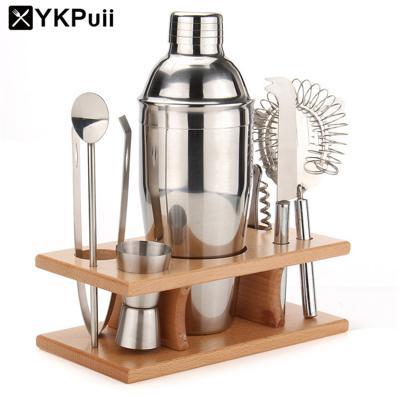 750ml Set of Stainless Steel Cocktail Drink Shaker Mixer Bar Wine Making Tool With Strainer Ice
