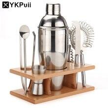 750 ml Set von Edelstahl Cocktail Drink Shaker Mixer Bar Weinherstellung Werkzeug Mit Sieb Eis Filter Clip Flasche Opener