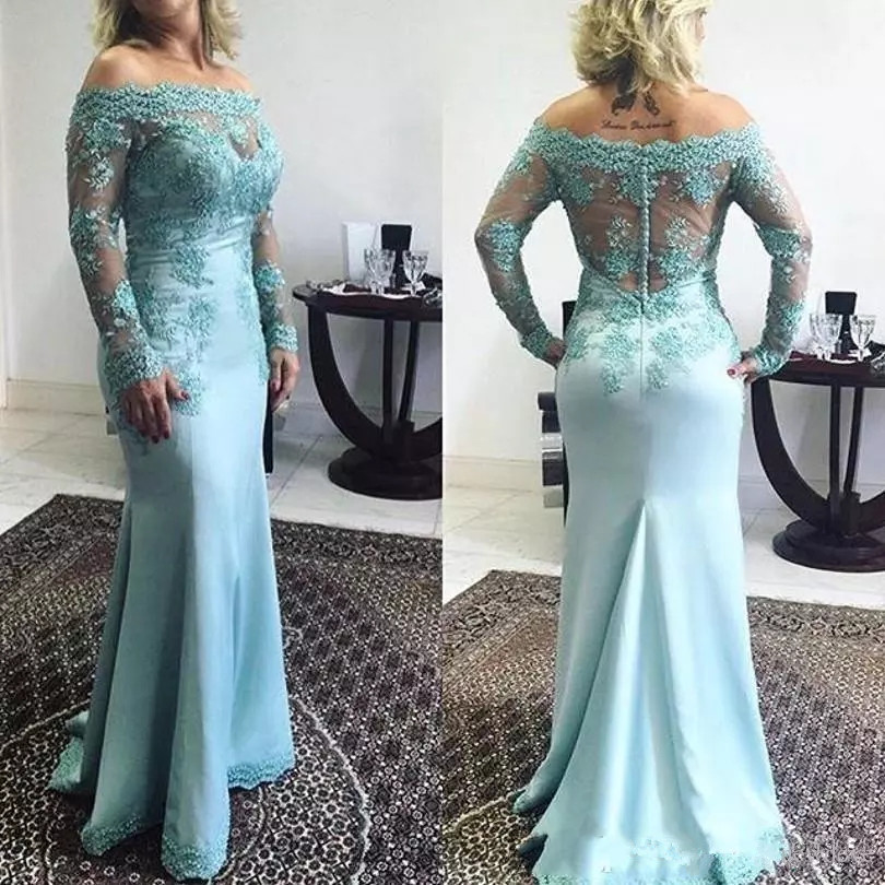 Mother Of The Bride Dresses: 2019 Fall Mint Green Mermaid Mother Of Bride Dresses Off