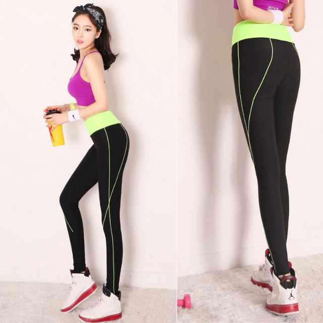 be5f9c9098f New Move Brand Sex High Waist Stretched Sports Pants Gym Clothes Spandex Running  Tights Women Sports Leggings Fitness Yoga Pants on Aliexpress.com
