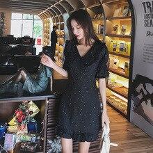 2019 ネックノースリーブドレス エレガントな刺繍レースの女性中空アウト V