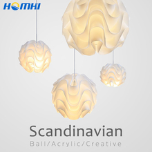 лучшая цена Nordic hanging ceiling lamps Acrylic ball scandinavian lamp Vertigo loft style japanese chandelier above the table rope lamp