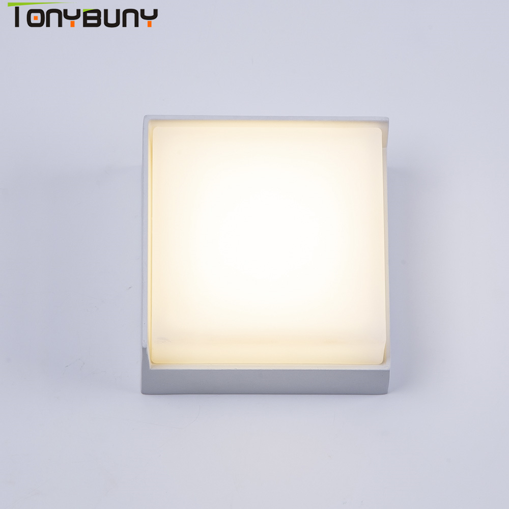 Wall Lights Bathroom Led Energy Modern Light Indoor 5W AC85-265V LED Square Wall Lamp Bathroom Lighting