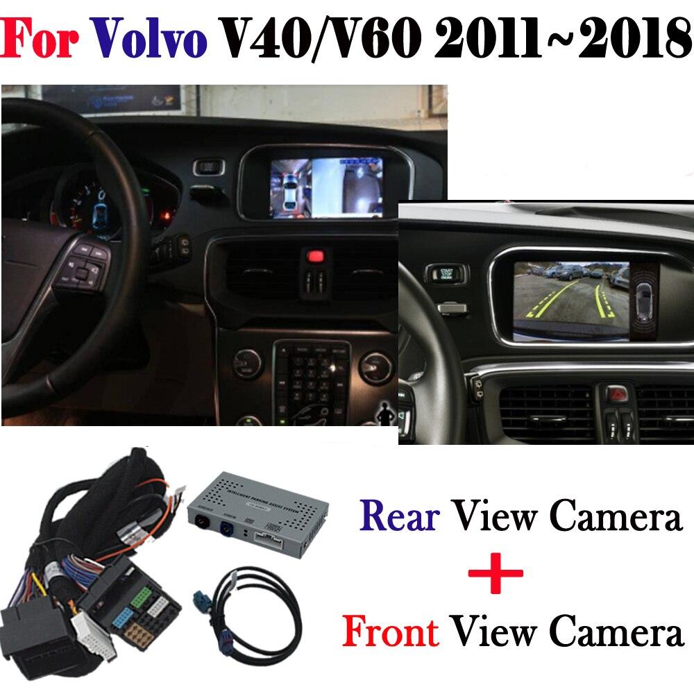 Telecamera di retromarcia Adattatore di Interfaccia Originale Dello Schermo del Monitor Per Volvo V40/V60 2011 ~ 2018 Anteriore Posteriore Telecamera di Parcheggio MMI decoder