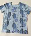 INS nuevo patrón León tops Bebé de los niños del verano Camiseta de Algodón chaleco niño niña tops pantalones ropa de dibujos animados traje para 18M-7Y