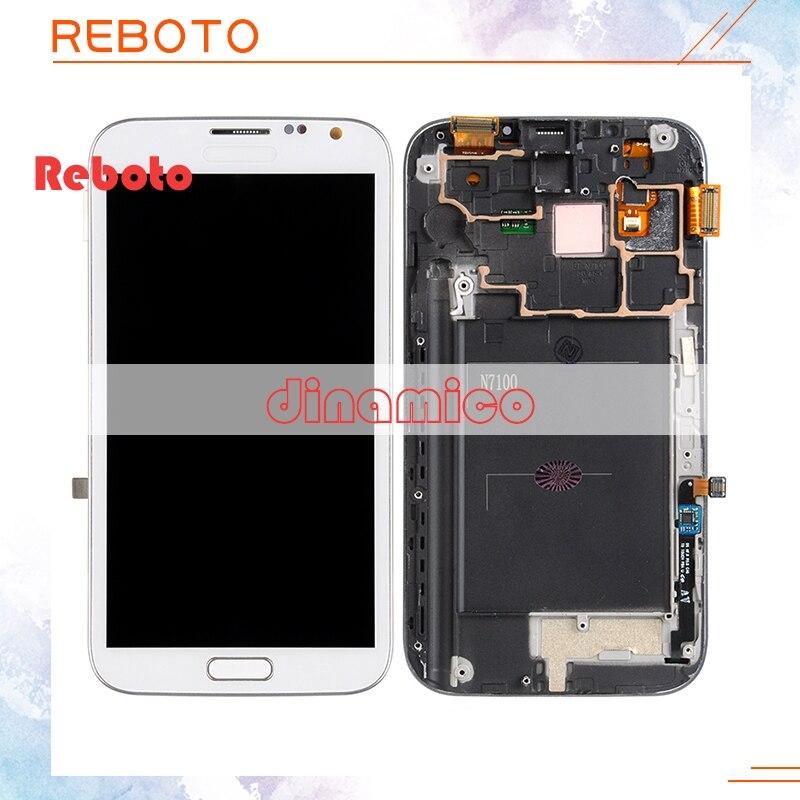 Reboto DHL Libero Regolare La luminosità di Ricambio i9300 lcd 4.7 '' schermo lcd per Samsung S3 i9300 i9305 i747 i535 LCD + touch/telaio
