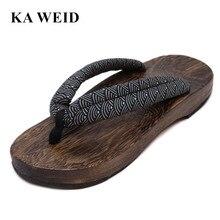 bf5b2bce648 Y las mujeres GETA SAMURAI japonés zuecos sandalias de madera Unsex zuecos  zapatos planos zapatos de