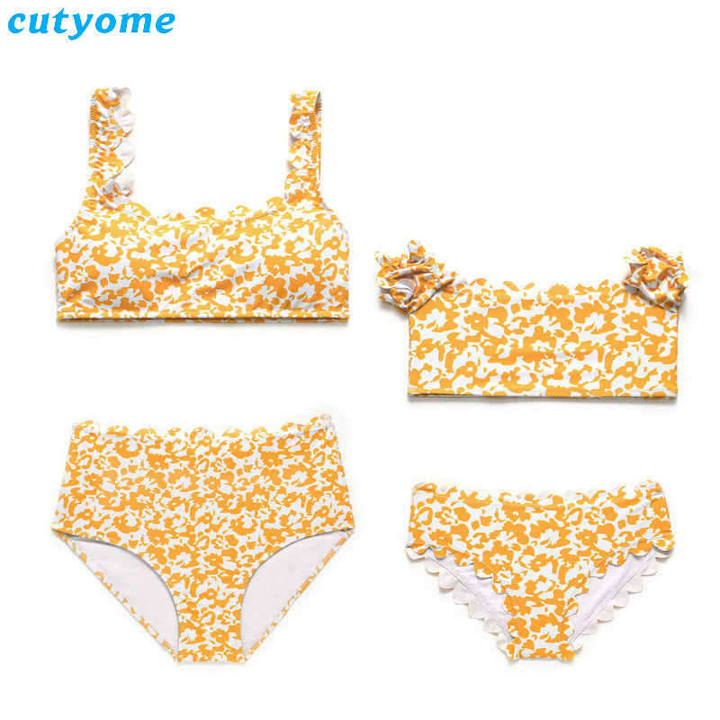 947ba1e117 ... Family Mom And Daughter Matching Clothes Bikini Swimwear Set For Mother  Daughter Beach Holiday Swimsuits Women