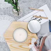 Lemon Mosquito Repellent Soy Candle Party Wax Scented Candles Birthday Tea Lights Mecha Photophore Candels Home Decoration 30