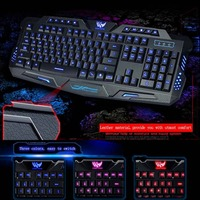 English Version Professional Wired Gaming Keyboard For PC Laptop Red Purple Blue Backlight Modes Dropshipping