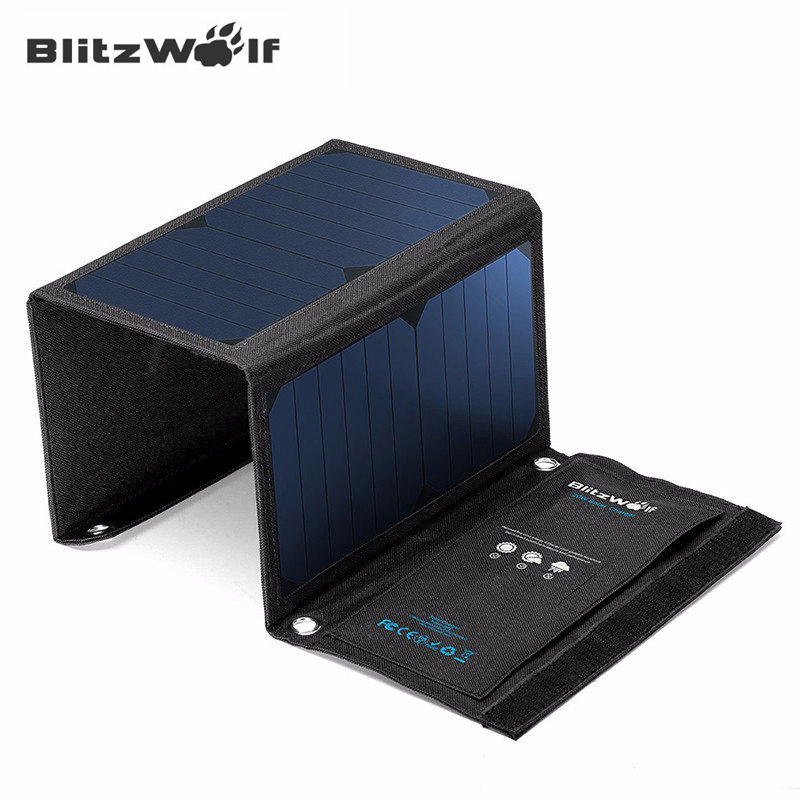BlitzWolf 20W Solar Power Bank Solar Panel Portable
