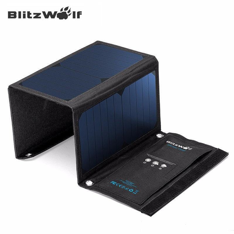 Blitzwolf 20w Solar Power Bank Solar Panel Portable