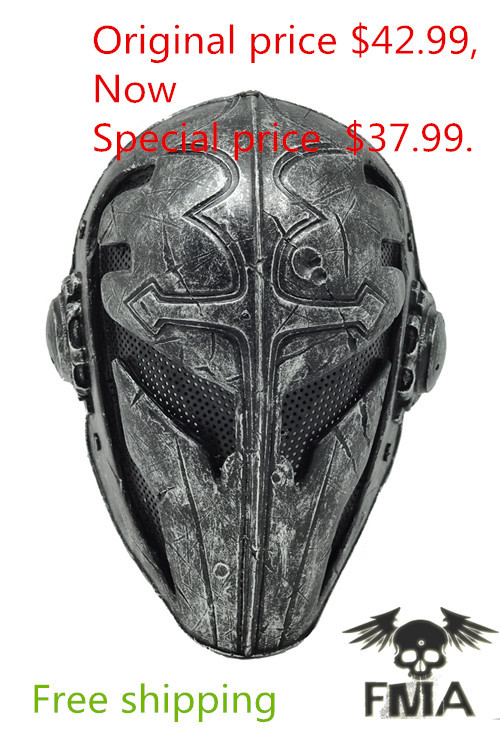 Paintball Airsoft Wire Mesh Templar Fabric Plastic Mask black Free shipping