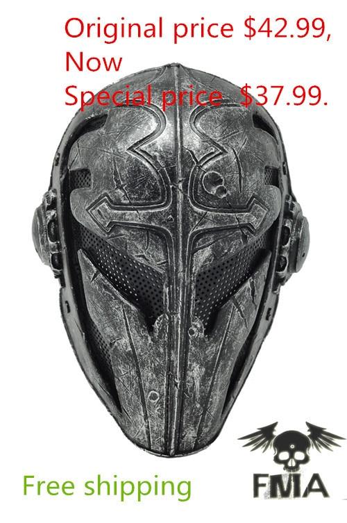 Paintball Airsoft Gaas Templar Stof Plastic Masker (zwart) Gratis verzending-in Feest maskers van Huis & Tuin op  Groep 1