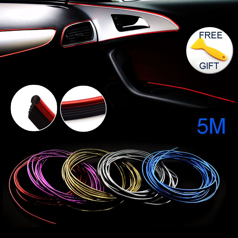 5M Car-Styling Decals Flexible Auto DIY Decoration Stickers Case For Bmw Audi Alfa Mercedes Amg Smart Honda Hyundai Car Styling 2pcs 12v 31mm 36mm 39mm 41mm canbus led auto festoon light error free interior doom lamp car styling for volvo bmw audi benz
