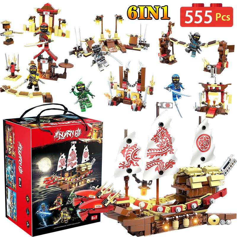 Final Fight Of Destiny Bounty Dragon Ship Compatible LegoINGLYS Ninjagoe Movie Series Bounty Bricks Blocks Toy For Children Gift lepin 06020 final flight of destiny s bounty 1325pcs ninja building blocks toys for children gifts compatible legoinglys 70738