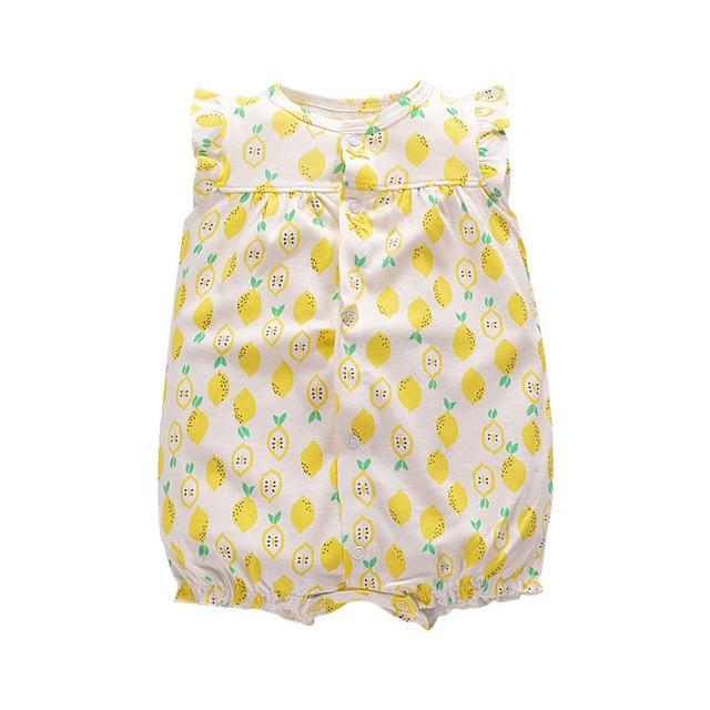 Orangmom 2017 summer baby clothes Fresh yellow lemon