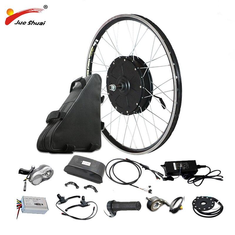 Kit de vélo électrique 48 V 1000 W eBike avec batterie au Lithium 48V20AH roue de moteur arrière sans poudre pour vélo électrique 26