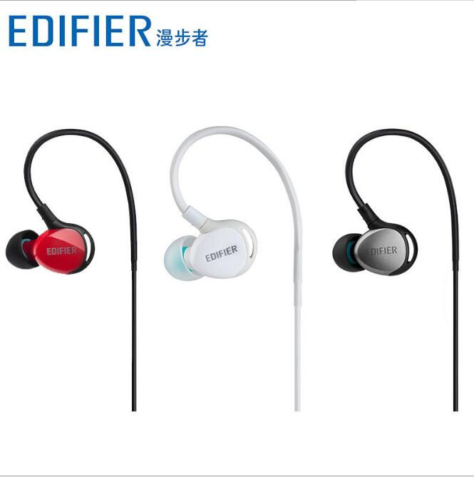 Edifier Wired H281PS Earphones Headphone 3.5mm Stereo Earhook Bass Sound Headset for Mobile Phone Sport hot sale 1pcs