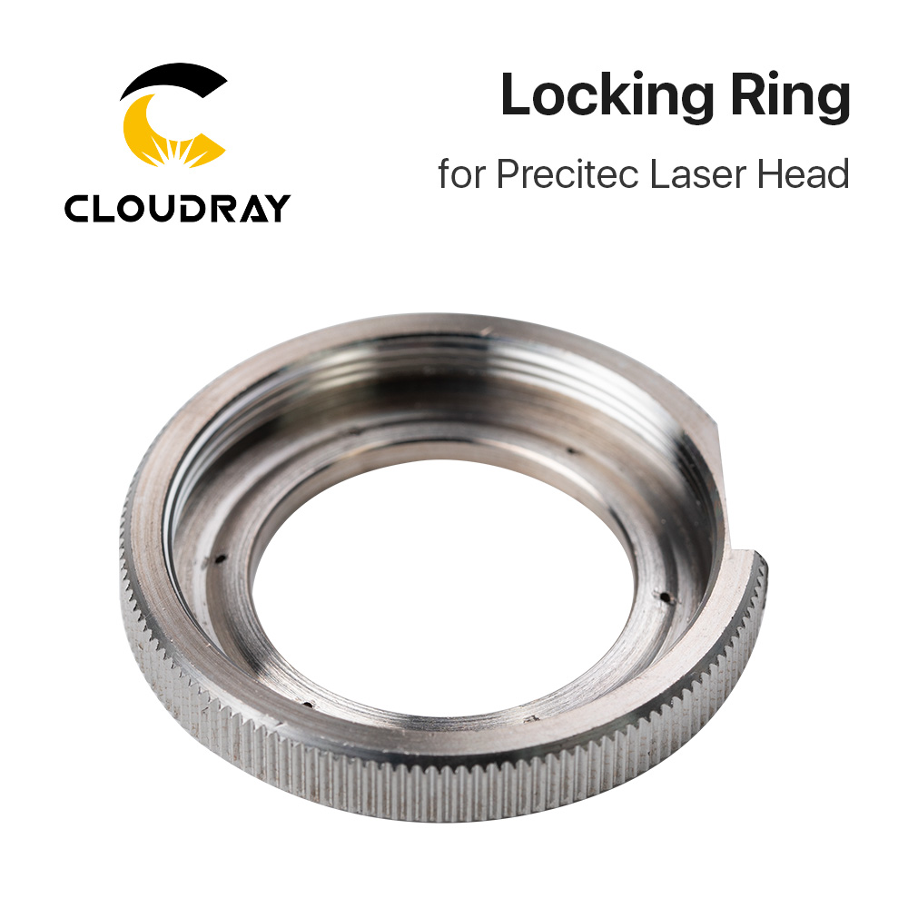 Cloudray Ceramic Lock Ring Nut Fiber Laser Head Parts Laser Nozzle Connector Fasten Ring Fiber Laser Raytools