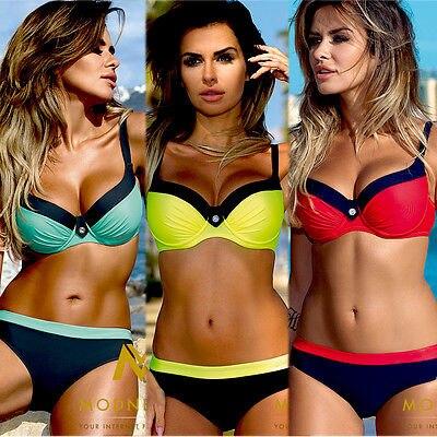 New Summer Bandage Push-up Padded Bikini Set Beach Monokini Swimwear Women Tankini Bathing Suit Swimsuit twist push up peplum print tankini set