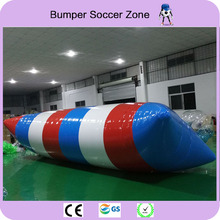 Free Shipping 8*3m 0.9mm PVC Jumping Pillow Air Wateress Water Inflatable Water Trampoline Water Blob Water trampoline