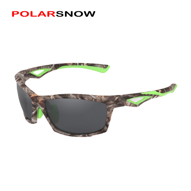 b6fc333014 POLARSNOW TR90+Rubber Polarized Sunglasses Top Quality 2019 Camo Frame  Sports Sun Glasses Men Goggles