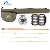 Maximumcatch 2WT/3WT Graphite IM10 Fly Rod 3/4Sec Medium fast Fly Fishing Rod For Small Stream/Trout Fly Rod Combo