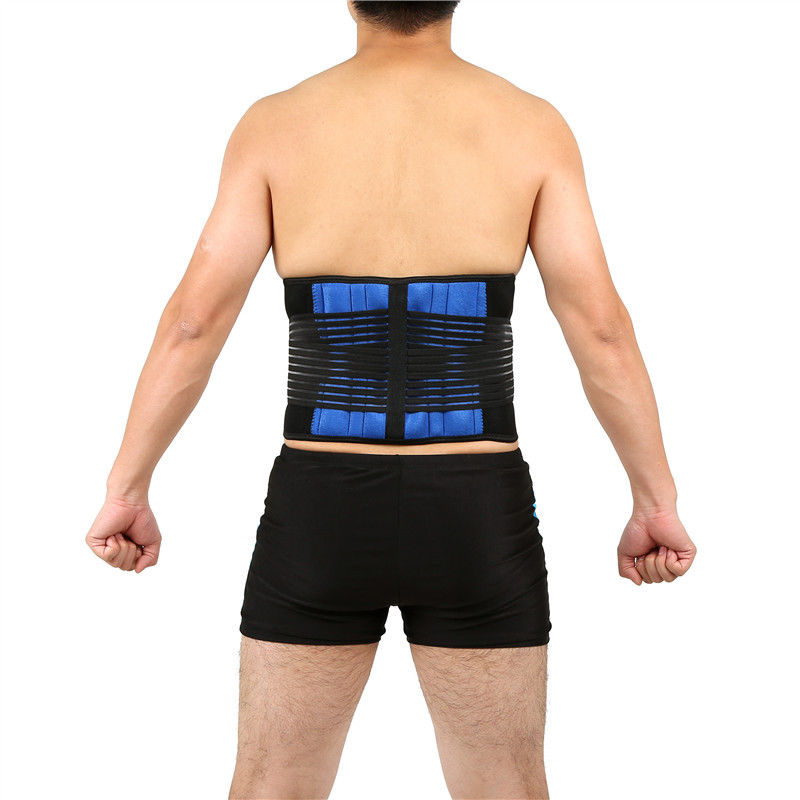 AOFEITE Neoprene Double Pull Lumbar Lower Back Support Brace Pain Relief Adjustable Belt Lumbar Brace Waist Corset Large Size