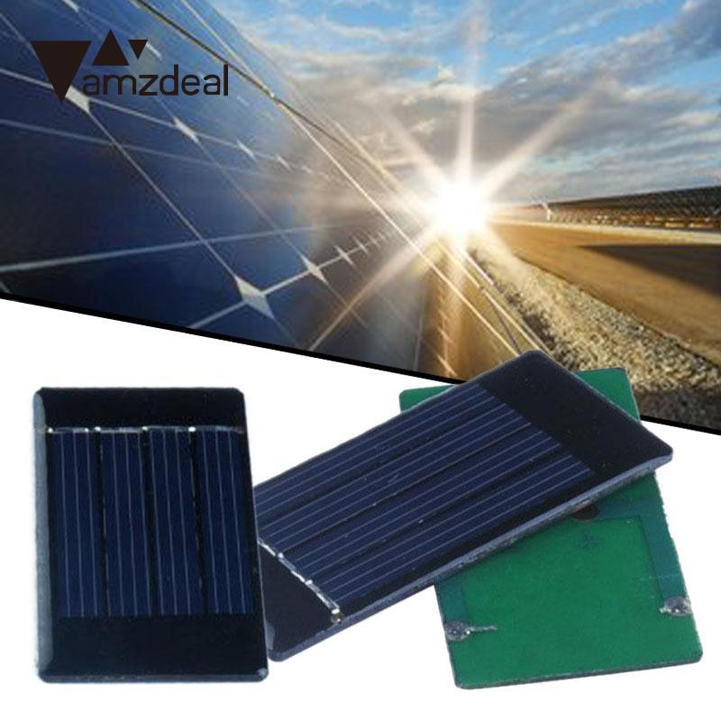 amzdeal 2V 50mA Solar Panel Module for Cell Phone Charger Cellphone 30x60mm Outdoor Travelling Powerbank DIY Cell Module Board