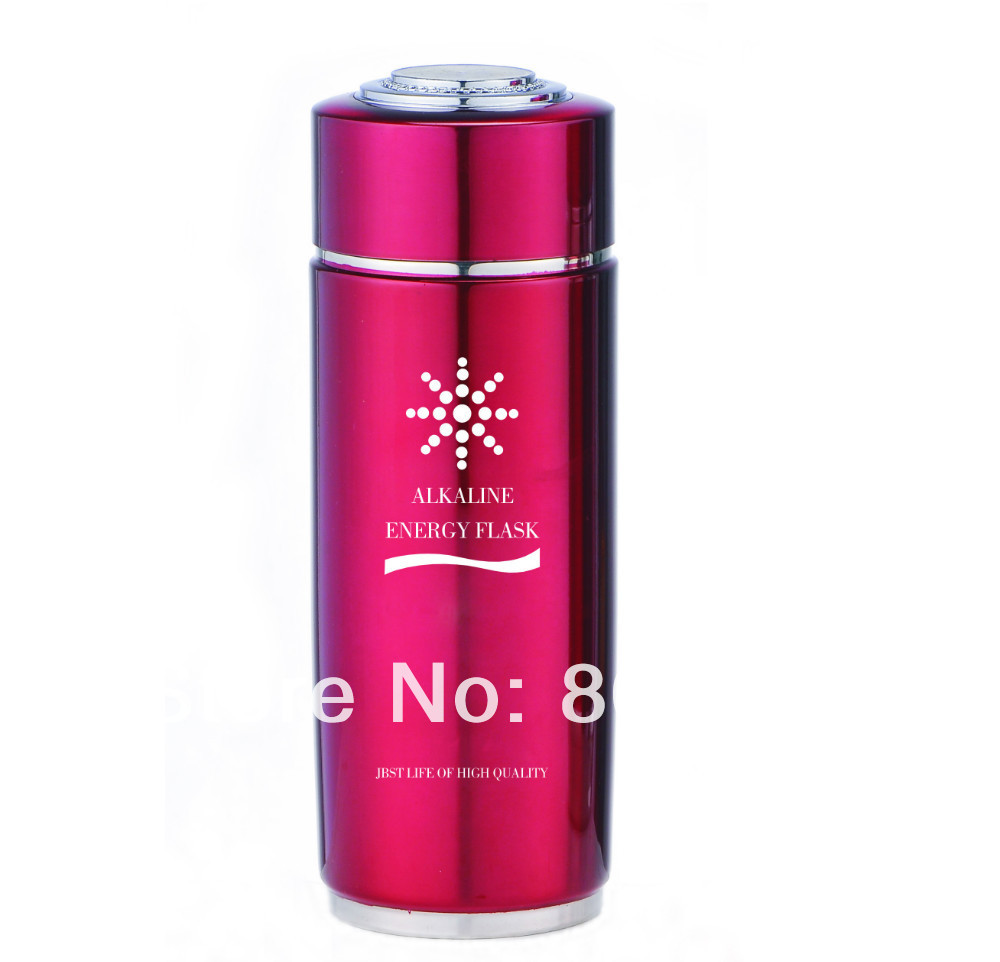 Бесплатная доставка 304 нержавеющая сталь щелочные бутылки с функцией термоса + Встроенный сменный nano энергетический фильтр для изменения pH