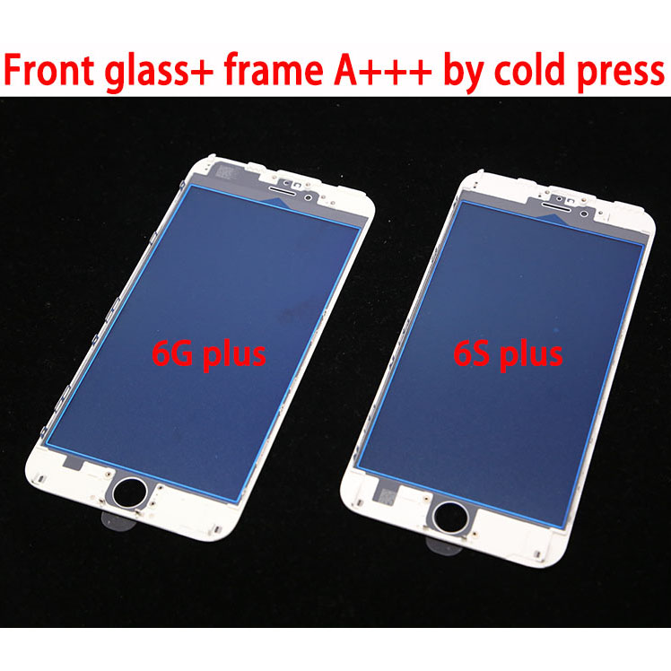 10pcs Oityn Outer Glass with Frame Bezel For iPhone 8G 8P 6G 6plus 6S 7G plus 5S 5G LCD Front Touch Screen Glass Lens+Frame image