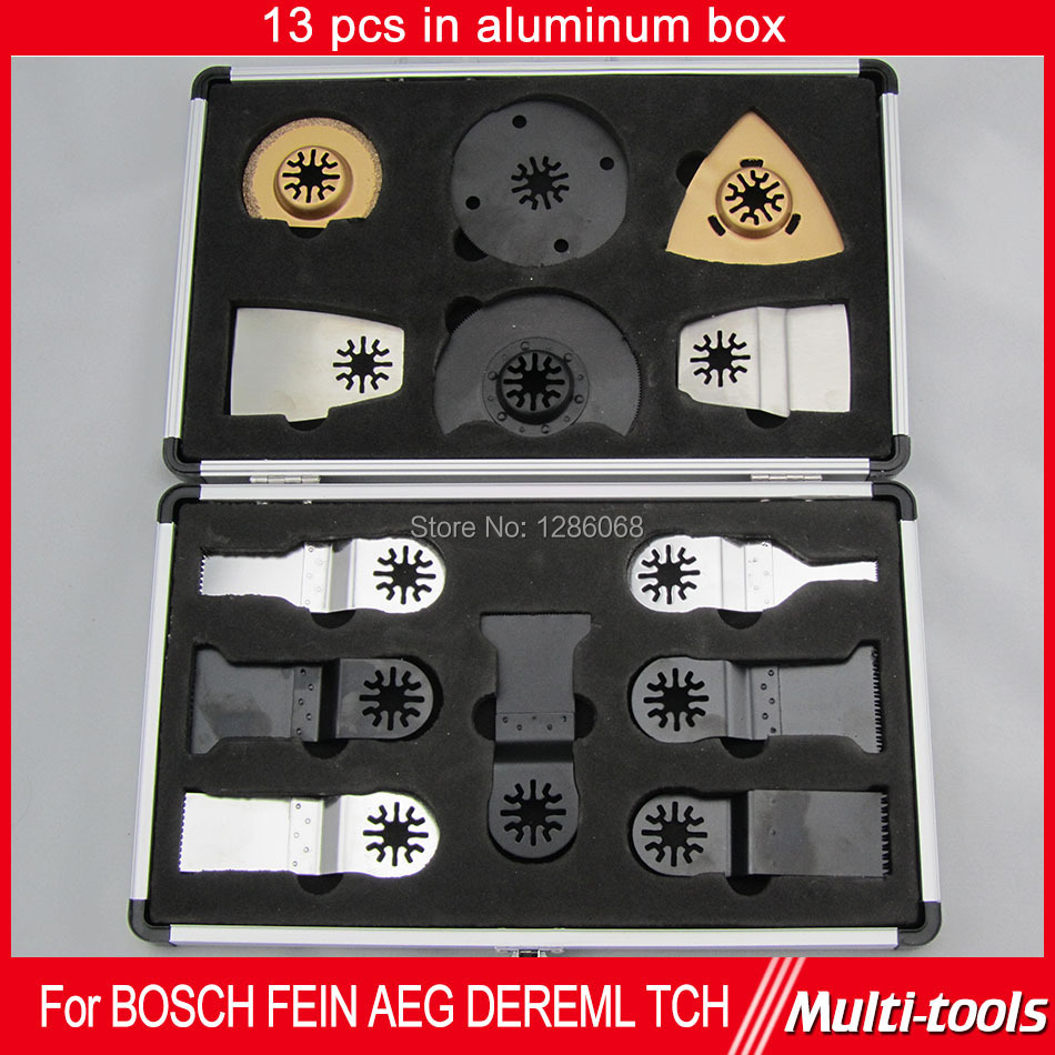 FREE SHIPPING 13pcs/set Oscillating Multi Tool  Saw Blades Accessory Fit For Fein, Dremel Etc Multimaster