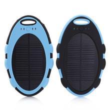 4000mAh Portable Solar Power Bank USB LED Flashlight External Battery Mobile Solar Power Bank Waterproof With Hook Outdoor Black