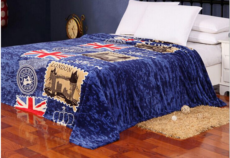 london fleece blanket warm bed sheet for single queen king bed children cartoon bear pig BLANKET 3 size 1.5X2M 1.8X2M 2.3X2M