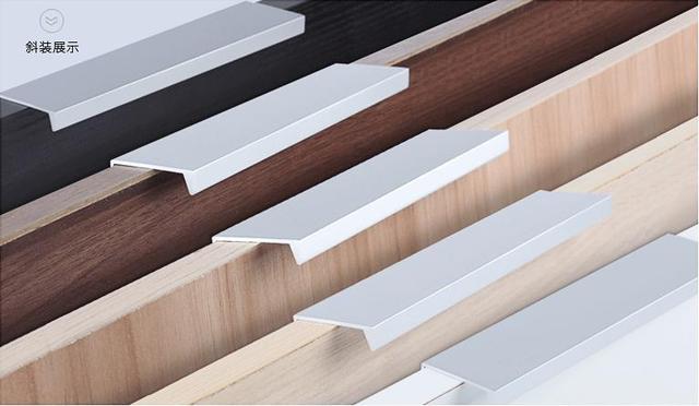 Moderne Einfache Schranktür Rand Griff Schrank Schublade Matte Silber  Versteckte Möbel Griff Küchenschrank Pull