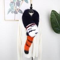 Real fox fur scarf fur scarf winter warm scarf fashion