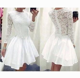 Women Chiffon Slim Dresses Fashion Fall White Black Lace Ball Gown Dress Pretty Cute Mini Vestido Plus Size Ez20 In From S Clothing