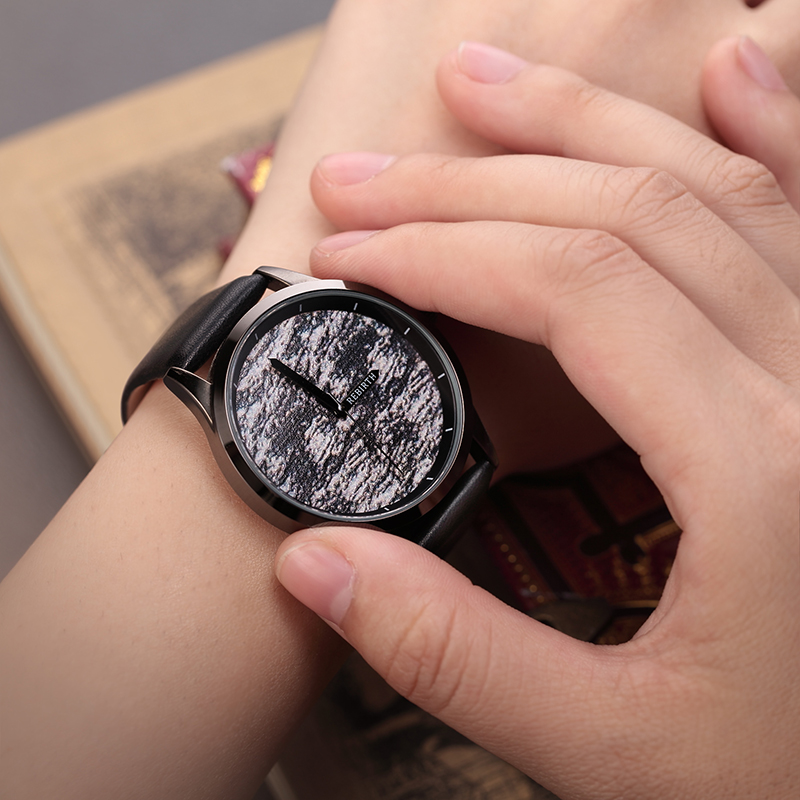 New chaos abstract design simple watches for young people REBIRTH fashion brand quartz watch with comfortable leather strap 2017 lady gift enmex abstract patterns elegant temperam with simple unique design for young women fashion quartz watches