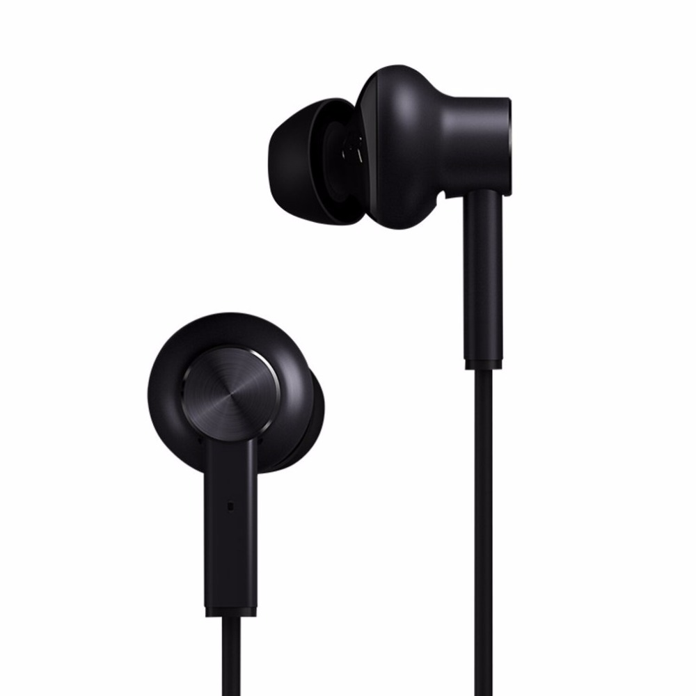 Xiaomi Portable Active Noise Canceling Headphones Mi ANC In-Ear Hybrid Earphones Line Control L Bending For Mobile Phone 1more e1004 dual driver anc noise canceling in ear headphones lightning