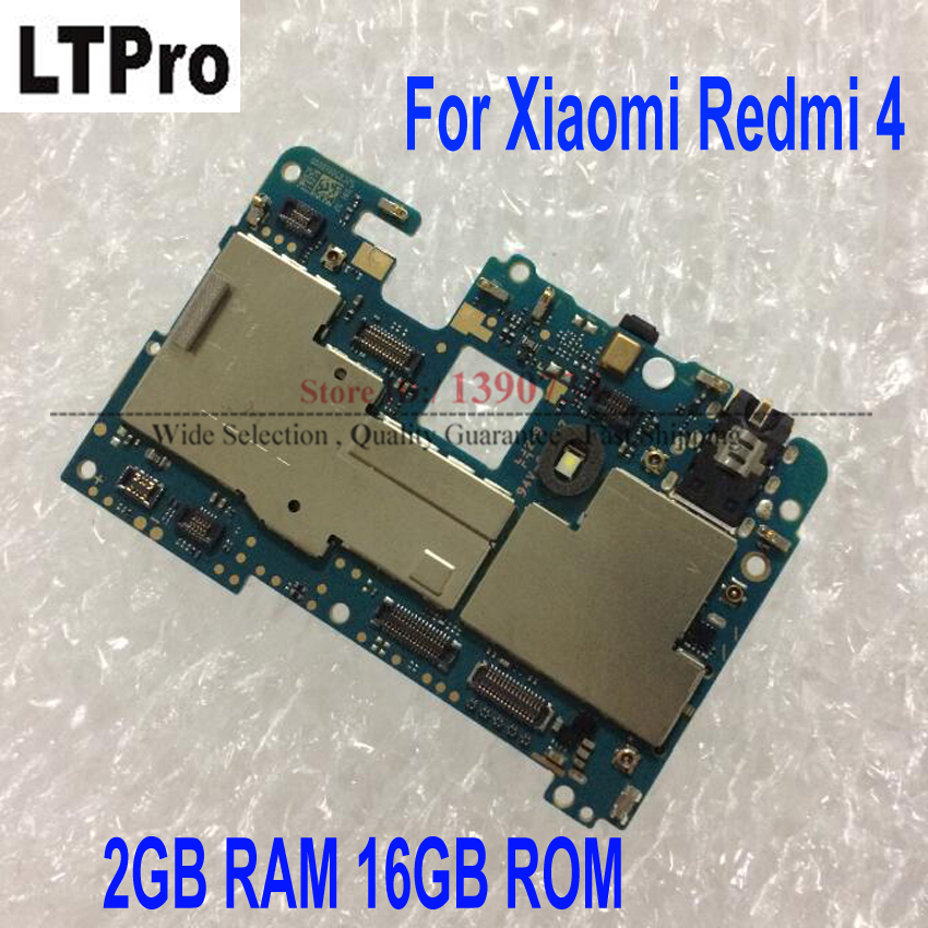 Global Firmware Full Working Original Unlock Mainboard For Xiaomi Redmi 4 Redmi4 2GB RAM 16GB ROM Motherboard Fee Flex Cable