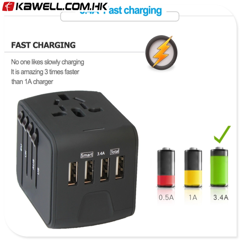 100pcs a lot Universal Travel Adapter phone accessories mobile charger