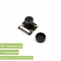 Waveshare Raspberry Pi Camera Module Supports all Rev. of RPi 5 Megapixel OV5647 Sensor Adjustable Focal Fisheye Lens