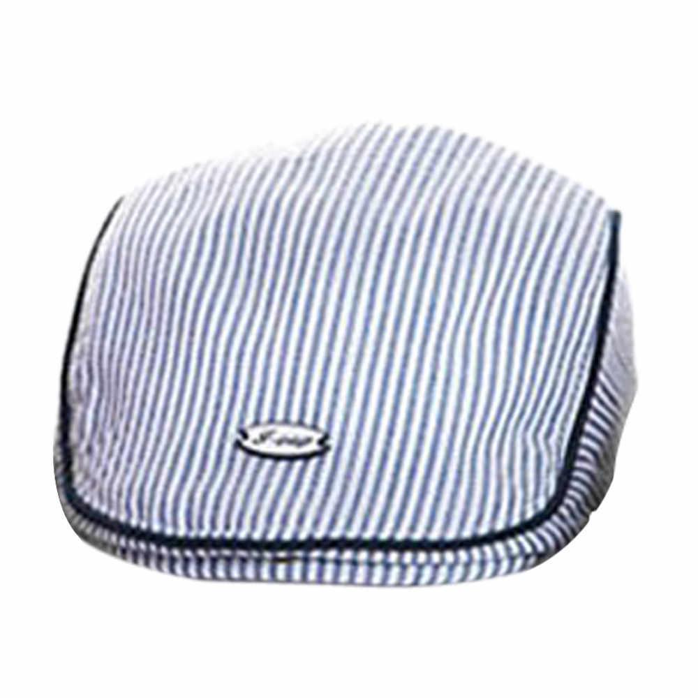 חמוד תינוק תינוקות ילד ילדה פס כומתה כובע מצחיה אופנה בייסבול כובע