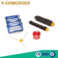 Aerovac Filter Side Brush Bristle And Flexible Beater Brush Cleaning Tools Set For IRobot Roomba 600