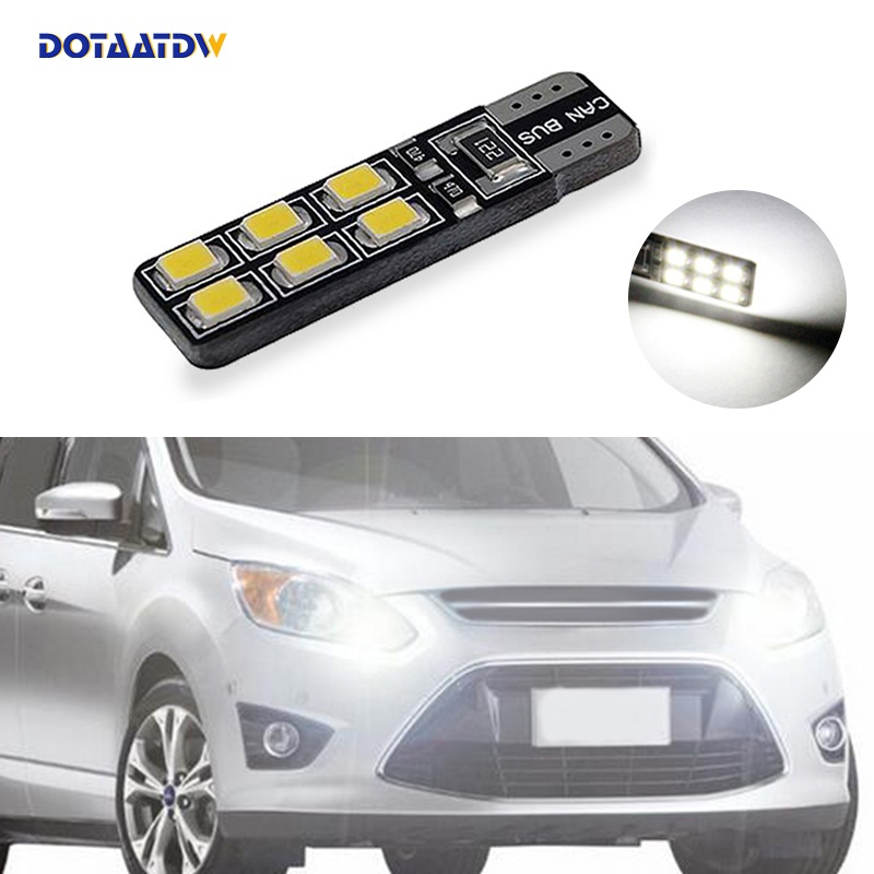 1x T10 W5W LED Wedge Light Marker Lamps Bulb For Ford Focus 2 1 Fiesta Mondeo 4 3 Transit Fusion Kuga Ranger <font><b>Mustang</b></font> KA S-max image